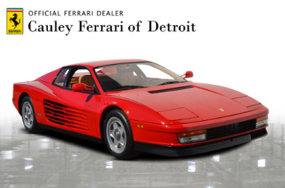 Used 1987 Ferrari Testarossa Used 1987 Ferrari Testarossa for sale $129,900 at Cauley Ferrari in West Bloomfield MI 4