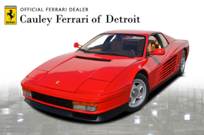 Used 1987 Ferrari Testarossa Used 1987 Ferrari Testarossa for sale $129,900 at Cauley Ferrari in West Bloomfield MI 1