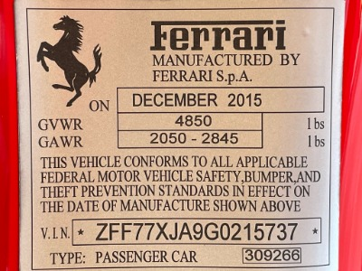 Used 2016 Ferrari California T Used 2016 Ferrari California T for sale $174,900 at Cauley Ferrari in West Bloomfield MI 97